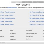 GANADOR 1 PRIMER LUGAR en Kick-Ass Photographers 2011