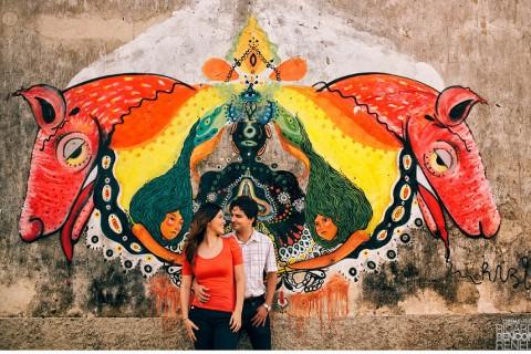 sesion de fotos novios pareja boda campeche yucatan merida esession sesion casual grafito informal