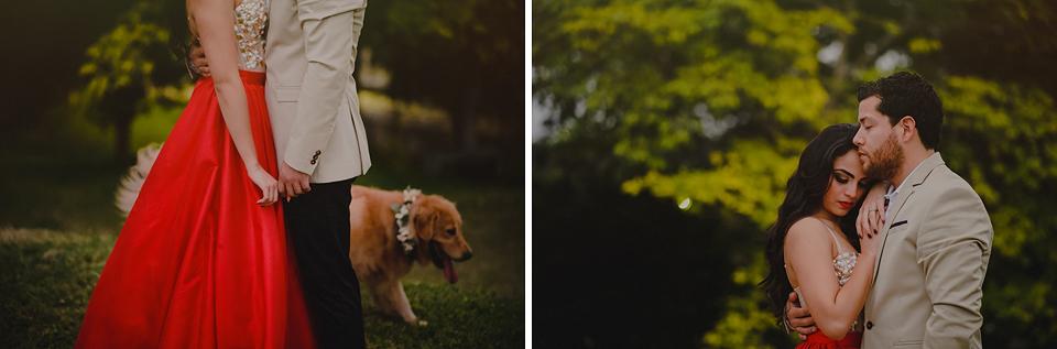 Campeche boda pareja fotografo boda mascota perro novios Amor Fuerte San Miguel amor
